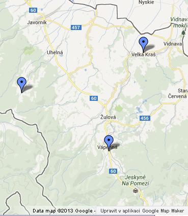 mapa pomniku