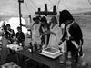 Louka - krájení svatebního dortu